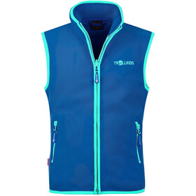 TROLLKIDS Arendal Gilet Bambino, midnight blue/dark mint